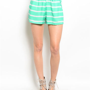 Take Me To The Beach Shorts- Mint