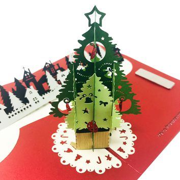 Little Village/Town - Christmas Pop Up Card