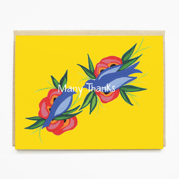 Birds Thank You Card
