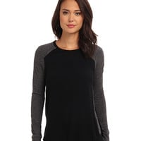 Rebecca Taylor Long Sleeve Stacy Top Black/Grey - Zappos.com Free Shipping BOTH Ways