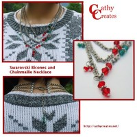 Swarovski Bicones and Chainmaille Necklace | Cathy Creates - Handmade knit and crochet accessories and apparel
