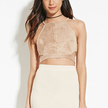 Cropped Faux Suede Cami | Forever 21 - 2000165138