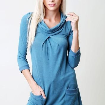 Tunic Top with pockets - Teal