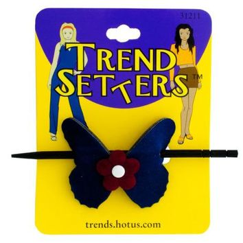 Butterfly Hair Clip with Wooden Stick ( Case of 72 )