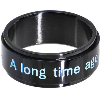 Licensed Black IP Star Wars A Long Time Ago Spinner Ring