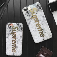 Supreme Unique marble  iPhone Phone Cover Case For iphone 6 6s 6plus 6s-plus 7 7plus
