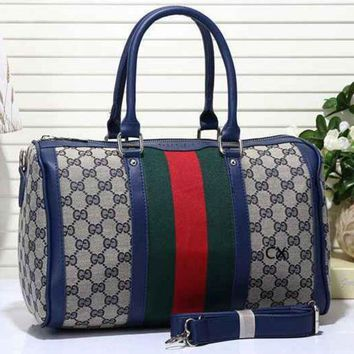 PEAPV9O Gucci Fashion Women Leather Luggage Travel Bags Tote Handbag G