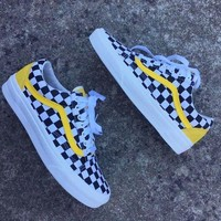 Vans Fashion Casual Grid Old Skoo Checkerboard Old Skool Sneaker