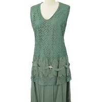 20s Green Lace Dress-1920s Vintage Dresses #1920sdress #20sdress #vintagedress #greendress #flapperdress