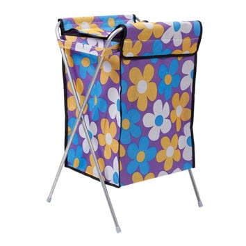 Supply 600D Oxford cloth covered laundry basket Laundry basket laundry basket Storage basket large foldable washable  purple