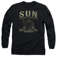 SUN RECORDS/ROCKABILLY BIRD-L/S ADULT 18/1-BLACK