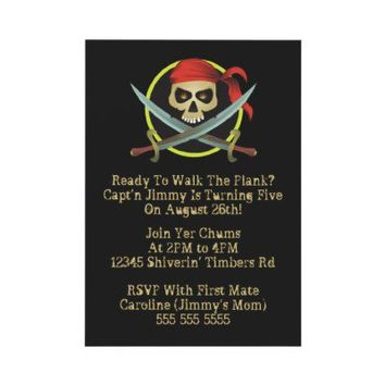 Pirate Party Invitations from Zazzle.com