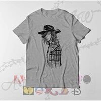 Carl Grimes The Walking Dead Drawing TWD Adult Unisex T Shirt
