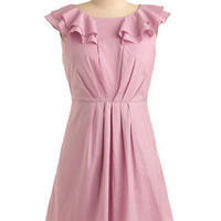 Lavender Bubblegum Dress | Mod Retro Vintage Printed Dresses | ModCloth.com