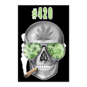 "#420 Weed 24"" x 36"" Poster On Black Background"