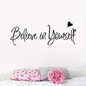 Believe In Yourself Wall Sticker Decor wall stickers quotes