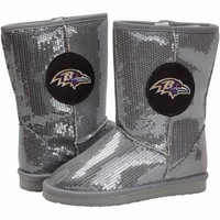 Baltimore Ravens Ladies High-End Sequin Boots