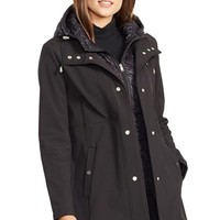 Women's Lauren Ralph Lauren Soft Shell Jacket with Quilted Insert,
