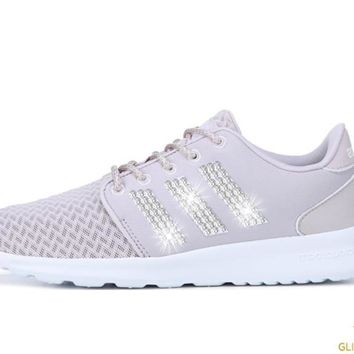 Adidas Cloudfoam QT Racer + Crystals - Ice Purple