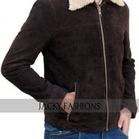 The Walking Dead Rick Grimes Season 7 Suede Leather Jacket + Available All Sizes