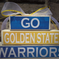 Custom College and Pro Sports Teams Golden State Warriors NBA Champs Fan Stacker