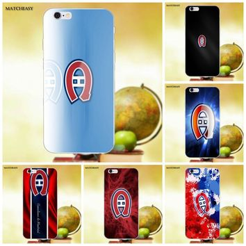For Apple iPhone X XS Max XR 4 4S 5 5C SE 6 6S 7 8 Plus X Soft TPU Protective Cover Case Montreal Canadiens Logo Nhl