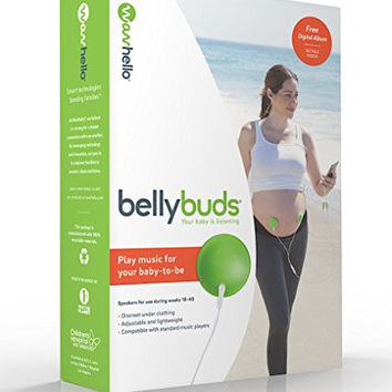 BellyBuds (5th Generation) | Prenatal Pregnant Headphones | Belly Phones That Play Music And Voices For The Brain Development Of Your Unborn Baby | The Perfect Baby Shower Gift