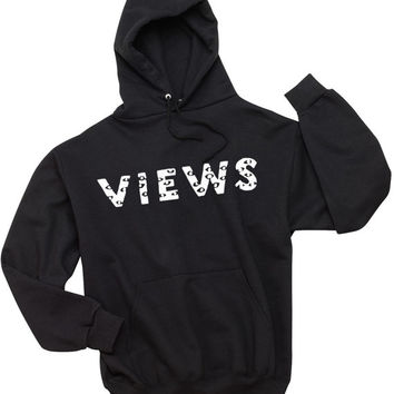 Views from the Six Black Hoodie Sweatshirt Unisex Mens Ladies Drake 6