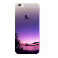 Creative Purple Painting Pattern Iphone 7 7 Plus &  6 6s Plus & 5 5s Cover Case