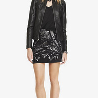 HIGH WAIST MIXED SEQUIN MINI SKIRT from EXPRESS