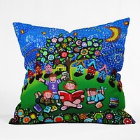 Renie Britenbucher Reading Is Magical Throw Pillow