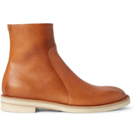 Maison Margiela - Brushed-Leather Chelsea Boots