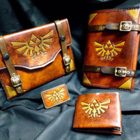 Leather Zelda Triforce 3DS pouch