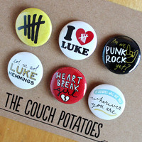 "5 Seconds of Summer 5SOS 1.25"" Buttons 6 Pack - LUKE"