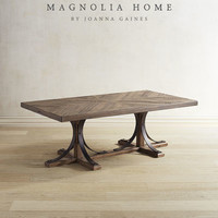 Magnolia Home Iron Trestle Shop Floor Coffee Table