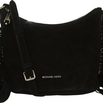 Michael Kors Women's Medium Billy Suede Messenger Bag Leather Cross Body Tote
