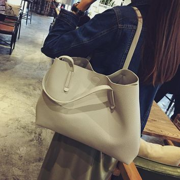 gray women casual handbag shoulder bag tote purse free christmas gift black boho choker  number 1