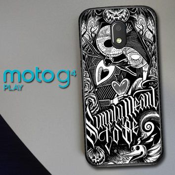 Jack And Sally Muertitos The Nightmare Before Christmas F0874 Motorola Moto G4 Play Case