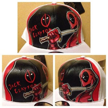 Deadpool / Jack Clayton Handpainted Hat
