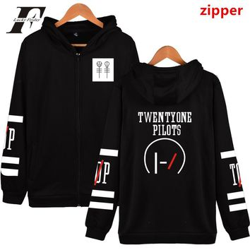 LUCKYFRIDAYF Twenty One Pilots Hooded Hoodies Men Zipper Rock Band Hip Hop Mens Hoodies And Sweatshirts Fashion Funny Clothes