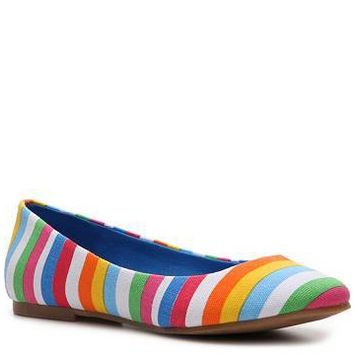 BC Footwear Limousine Striped Flat