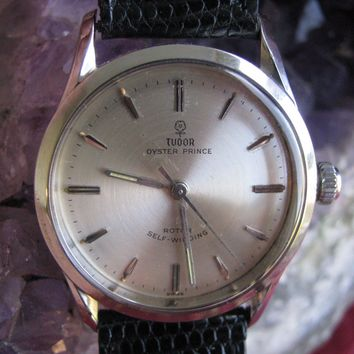 Rolex Tudor Oyster Prince Vintage Stainless Steel Automatic Wrist Watch