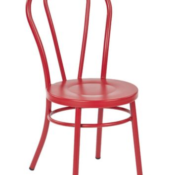 Thonet Style Red Metal Bentwood Steel Side Chair (set of 2)