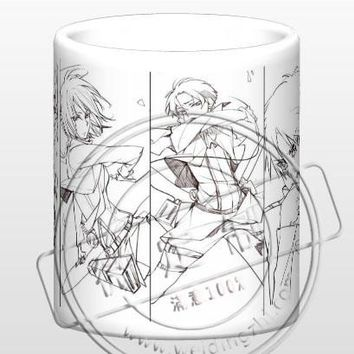 Cool Attack on Titan New  Pencil Sketch Ceramic Coffee Mug White Color Or Color Changed Cup AT_90_11