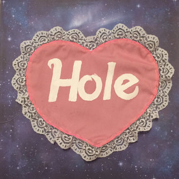 Hole Courtney Love Band Sweetheart Lace-Trimmed Back Patch hand-painted