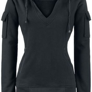 "Gothicana by EMP Hooded sweater, Women ""Black Stranger"" black"