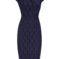 Navy lace pencil dress - Dorothy Perkins United States