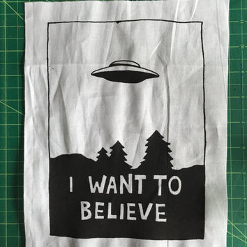 X-Files 'I want to believe'  Back Patch