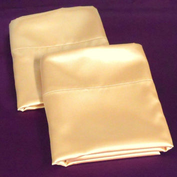 Pillowcases Regular Sized Peach  Bridal Satin