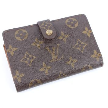 100% Auth Louis Vuitton Monogram purse wallet With kiss pocket CA0958 RARE